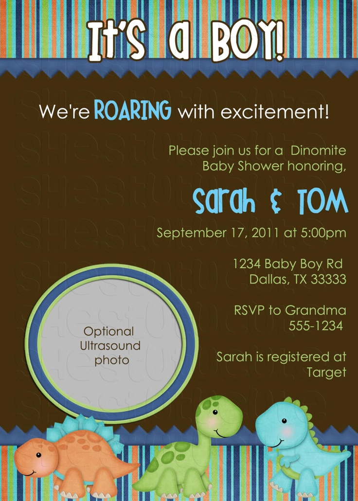 71 best images about dino baby shower on pinterest | dinosaur baby, Baby shower invitations