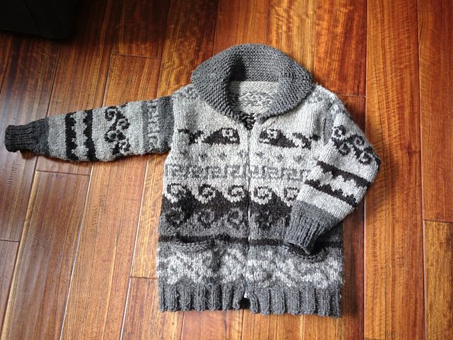 Basic Salish Indian Sweater by Priscilla Gibson-Roberts from Salish Indian Sweaters