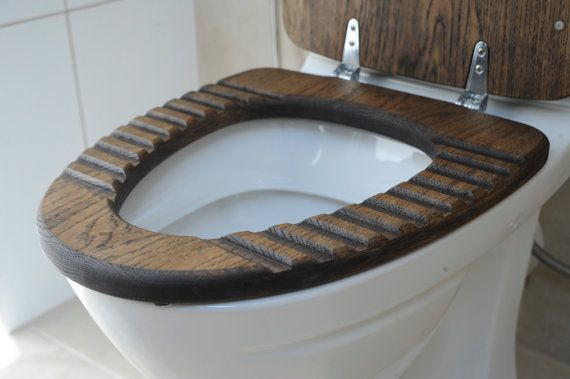 Must Have For Man Cave Sailor Oak Wood Toilet Seat