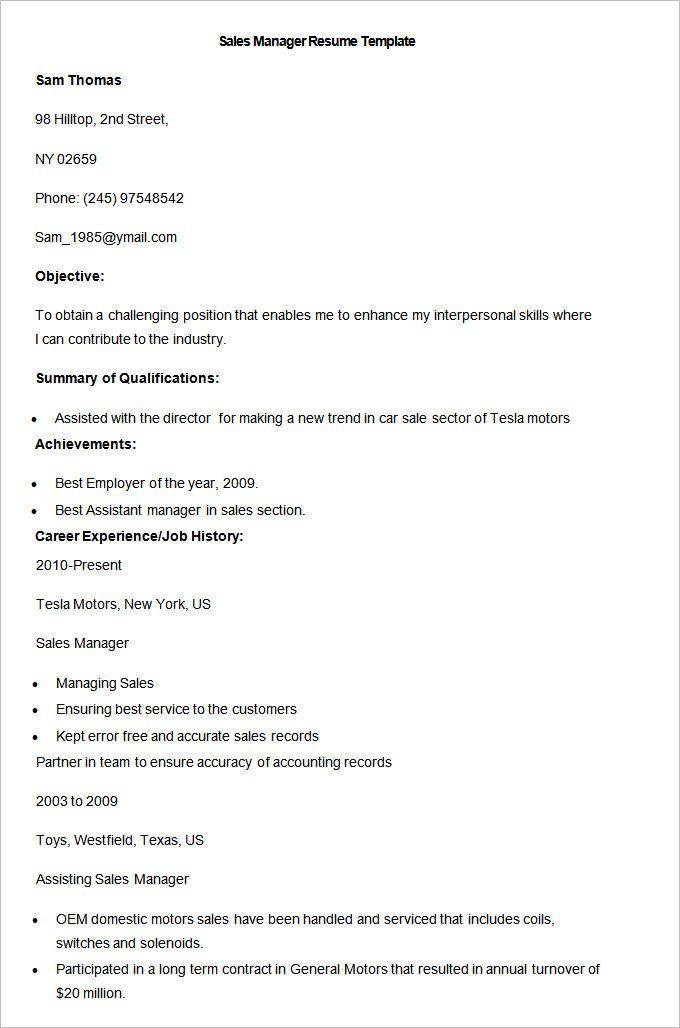 Sample Car Salesman Resume | Resume CV Cover Letter