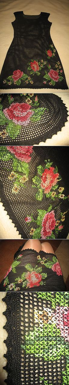 рукоделие-шитье | Cross Stitch Embroidery, Gorgeous Dress and Cross stitch