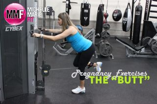 """Pregnancy Exercises For The """"Butt"""".  These are the TOP most effective #exercises to work the #butt during #pregnancy to prevent EXCESS WEIGHT GAIN."""