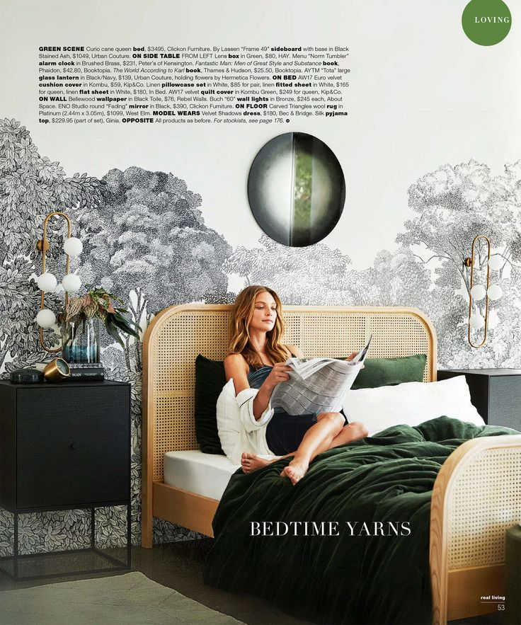 Wall mural Bellewood, Black Toile featured in Real Living Magazine (May 2017).