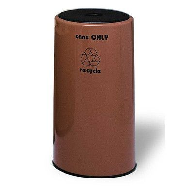 Allied Molded Products Seashore 21-Gal 1 Stream Industrial Recycling Bin Color: Anastasia Emerald