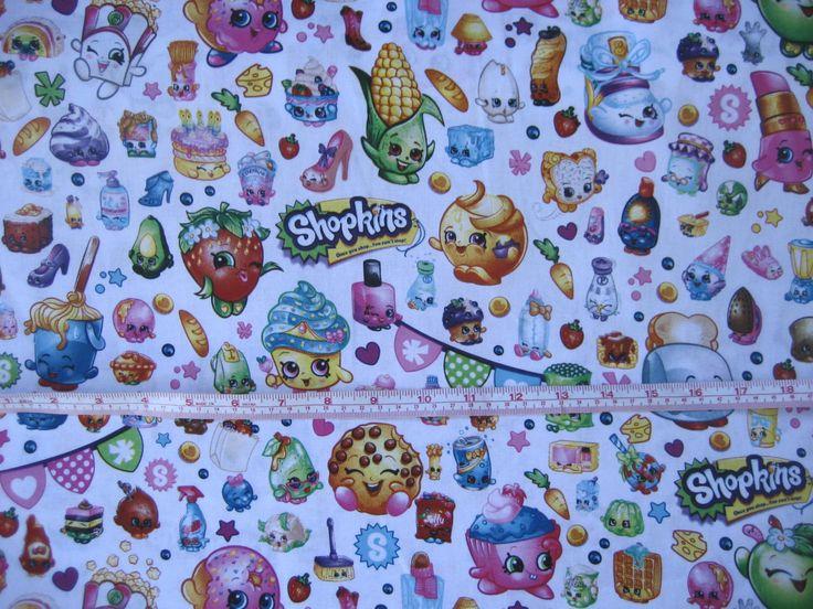 Ressorts Creative SHOPKINS tissu par la moitié cour - emballé SHOPKINS Party - par the Half Yard-en stock par DesignsbyDoreen sur Etsy https://www.etsy.com/ca-fr/listing/287311619/ressorts-creative-shopkins-tissu-par-la