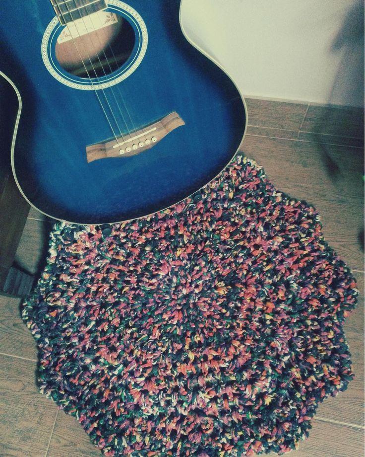Preciosa alfombra de trapillo. Crochet. Trapillo