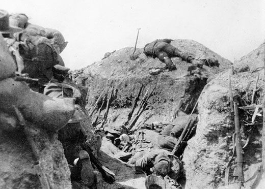 A scene in the trenches of Lone Pine on 8 August 1915. The photographer is unknown but the image conveys a sense of the losses sustained by both sides in the three day battle. It was given to the Australian War Memorial by a Major C Jackson and this may be the Lieutenant Clarence Jackson, who sailed with the 1st Battalion (New South Wales) on 18 October 1914 from Sydney on the troopship Afric. Bean writes of the actions of Captain Cyril Sasse, 1st Battalion, who during a lull in the fighting…