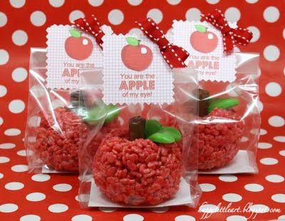 Rice Krispie Treat apples...darling