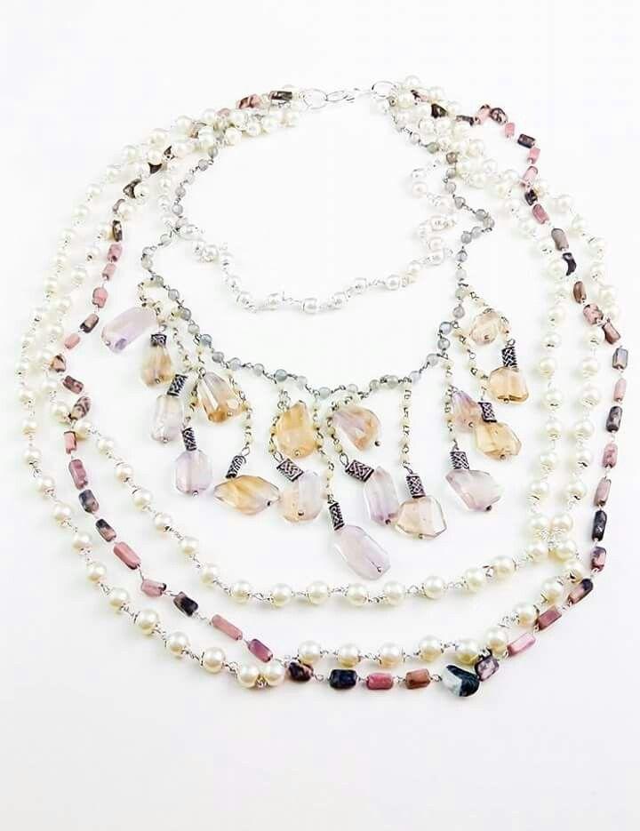 Orlov Jewellery-Multiline semiprecious stones