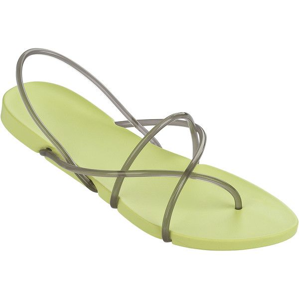 Ipanema Flip-flops - Ipanema Philippe Starck Thing G Fem Yellow/smoke ($43) ❤ liked on Polyvore featuring shoes, sandals, flip flops, yellow, ipanema, yellow flip flops, ipanema sandals, ipanema shoes and ipanema flip flops