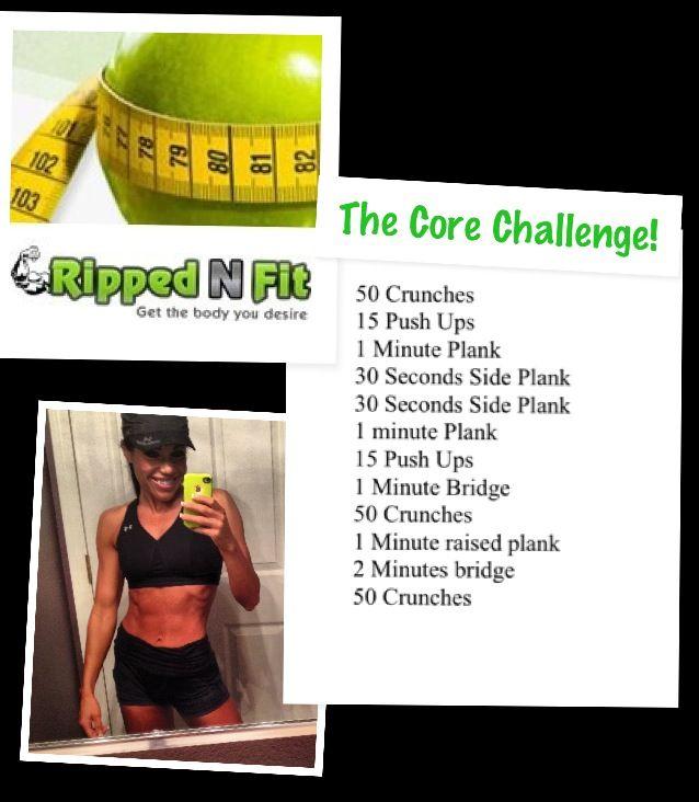 Core Challenge Pt. 2 - RippedNFit: Exercise, Nutrition, Lifestyle & Online Fitness Community