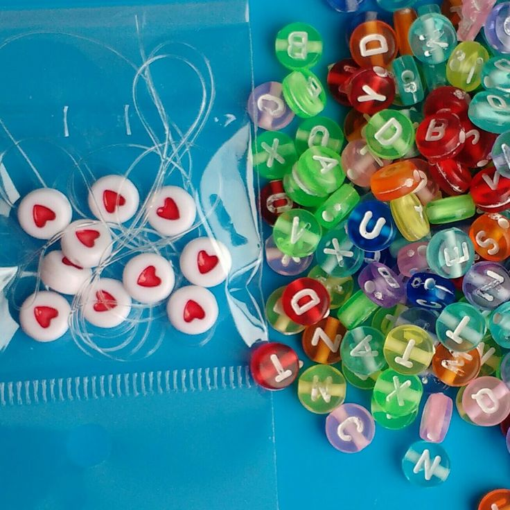 Alphabet bead kit with elastic and spacer beads.   210 beads.  Please take a look. Thanks Fiona #jewellerymaking #jewelrymaking #jewelerymaking