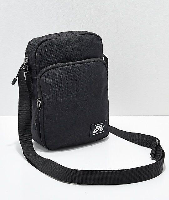 95c4eaedb8ca Nike SB Heritage Black   White Shoulder Bag in 2019