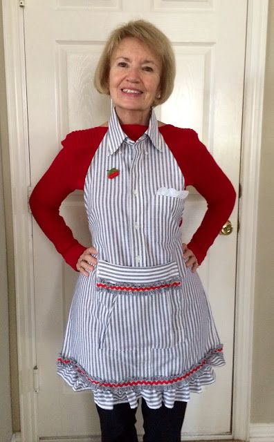 Kitty's Kozy Kitchen: Apron from My Late Beloved's Shirt