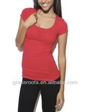 Womens RNeck Spandex Cotton Plain Color Tshirts  best buy follow this link http://shopingayo.space