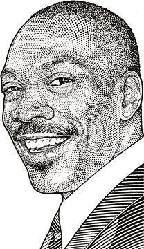 Wall Street Journal Hedcuts by Randy Glass, Eddy Murphy