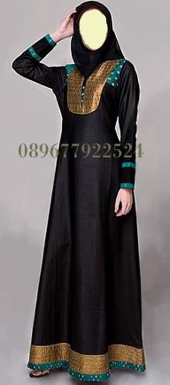 Abaya Black Gold