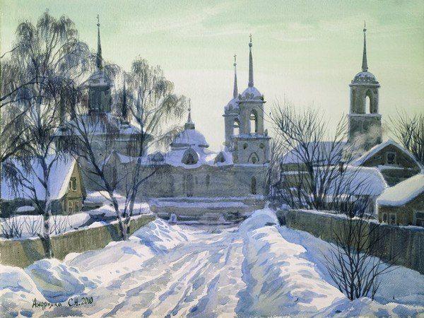 Сергей Андрияка_watercolor paintings_city-art_акварель_город