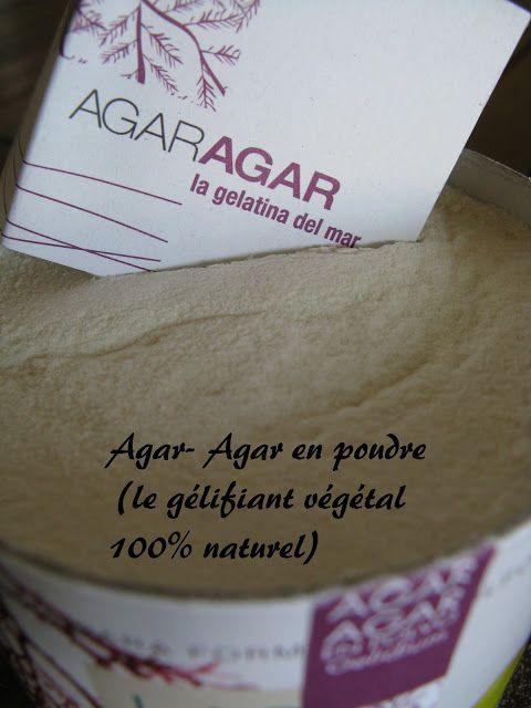 Le Point sur l'Agar-Agar Pour 1 litre: 1 g = Epaissi mais pas ferme 2 g =Peu ferme 4 g = Ferme 6 g = Très ferme