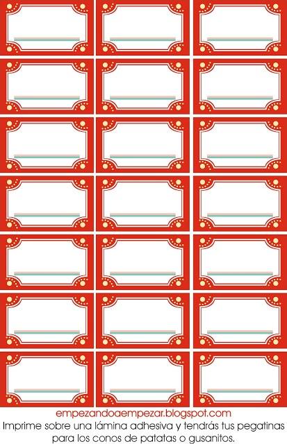 Imprimibles gratis para tu fiesta de circo en:  http://empezandoaempezar.blogspot.com.es/2011/11/todo-para-tu-circo-fiesta-de-cumpleanos.html