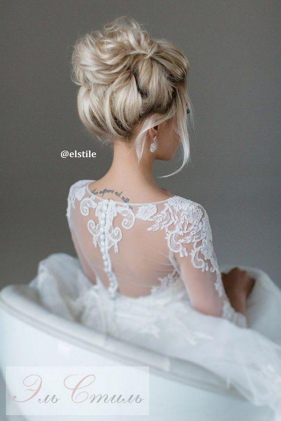 elstile wedding updo hairstyle / http://www.himisspuff.com/beautiful-wedding-updo-hairstyles/9/