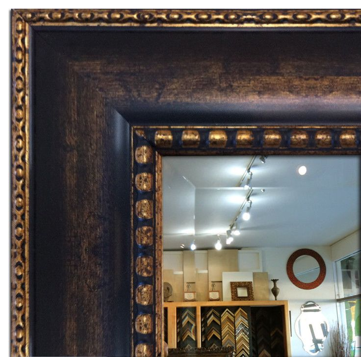 Wall Framed Mirror, Bathroom Vanity Mirror Dark Brown & Gold #ArtiticGallery #Tuscan