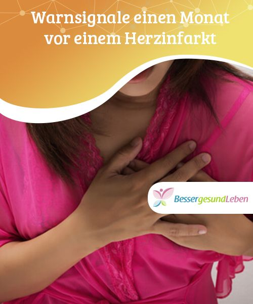 Warnsignale einen Monat vor einem Herzinfarkt Herz-Kreislauf-Erkrankungen gehören zu den häufigsten Todesursachen. Eine davon ist der Herzinfarkt, der lebensbedrohlich sein kann. Einen Monat vor einem Herzinfarkt gibt der Körper bereits Warnsignale, die dabei helfen können, vorzubeugen.