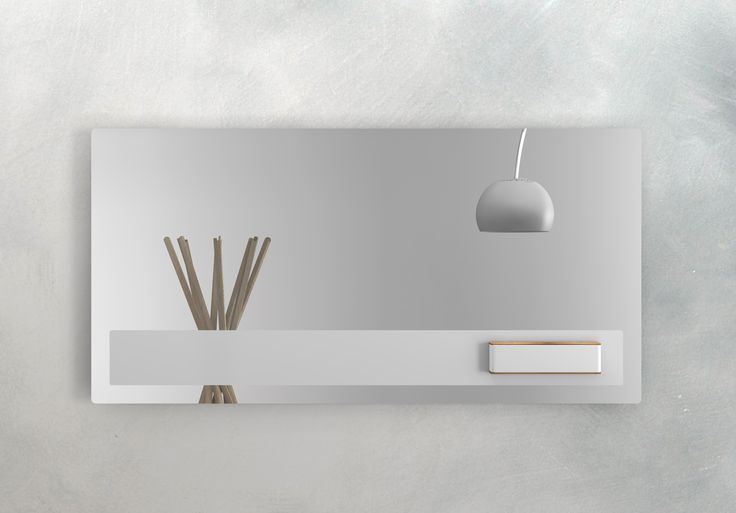 Mirror with metal strip