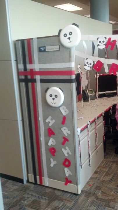 1000 ideas about office birthday on pinterest office for Creative cubicle ideas