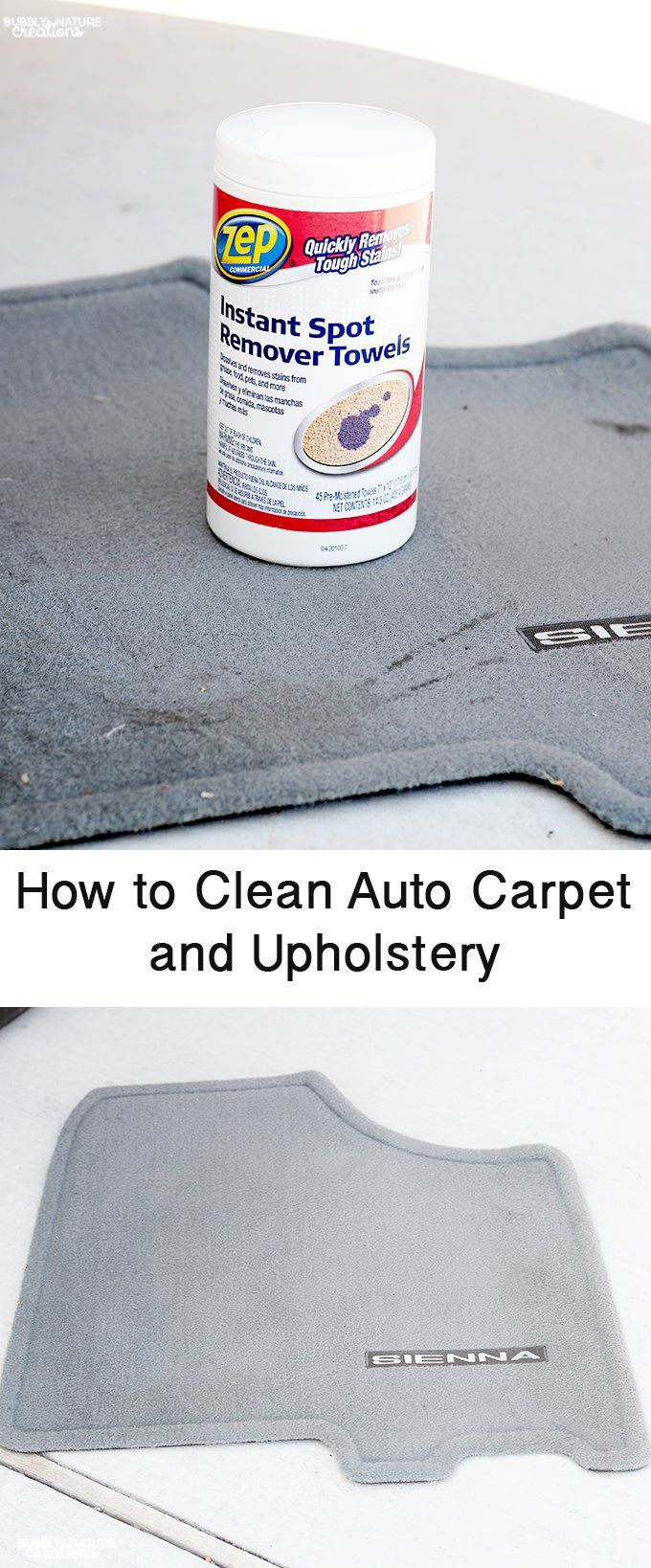 How to Clean Car Upholstery Quickly and Easily! #ZepSocialStars #ad