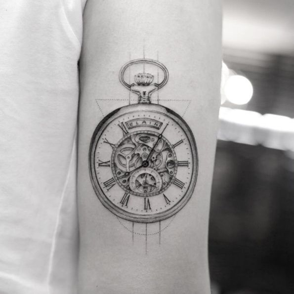 coolTop Body - Tattoo's - Pocket watch tattoo by Sanghyuk Ko...
