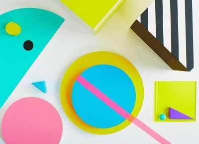 Photography by Natalie Dinham Experimenting with Shape & colour inspired by the Memphis group
