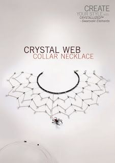 Margot Potter: Terrorific Tuesday Crystal Web Necklace for CYSWCSE