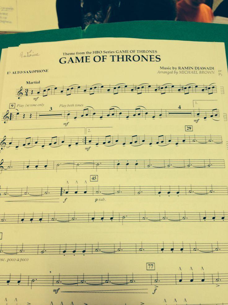 Game Of Thrones - Alto Saxophone Sheet music.