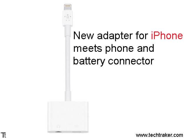 New adapter for iPhone meets phone and battery connector: After the launch of iPhone 7, Apple start selling adapter of 3.5mm input to handset and a connector to recharge drums. And now Apple release a new adapter for iPhone series which meets phone and battery connector. Manufacture has launched in past an adapter with twoMore