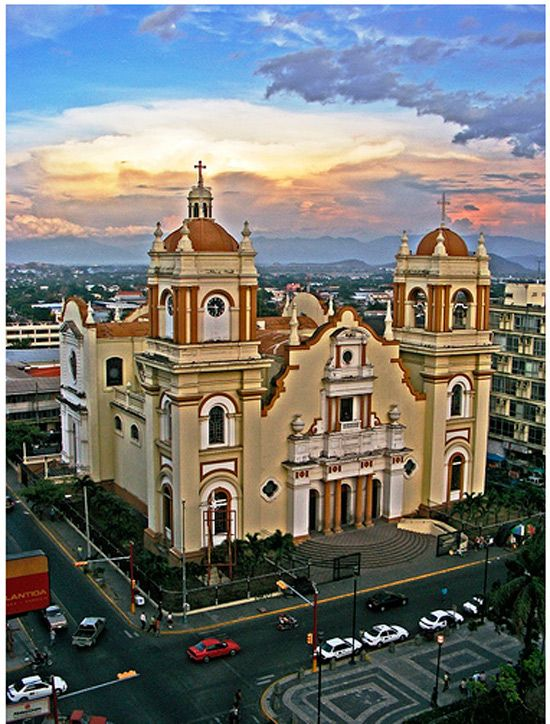 Catholic Church-San Pedro Sula. - We stayed across the street from this church while on a mission trip in High school