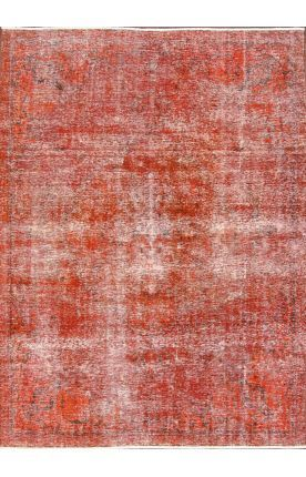 Rugs USA Overdye KRM147 Orange Rug: Ancient Textiles