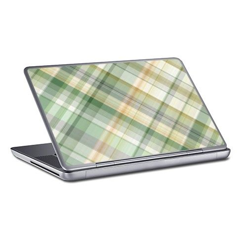 Green orange spring plaid PC Laptop Skin by rainbowpixels at zippi.co.uk