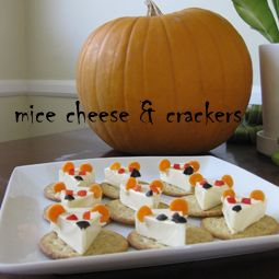 CATober Halloween Recipes: Mice Cheese and Crackers