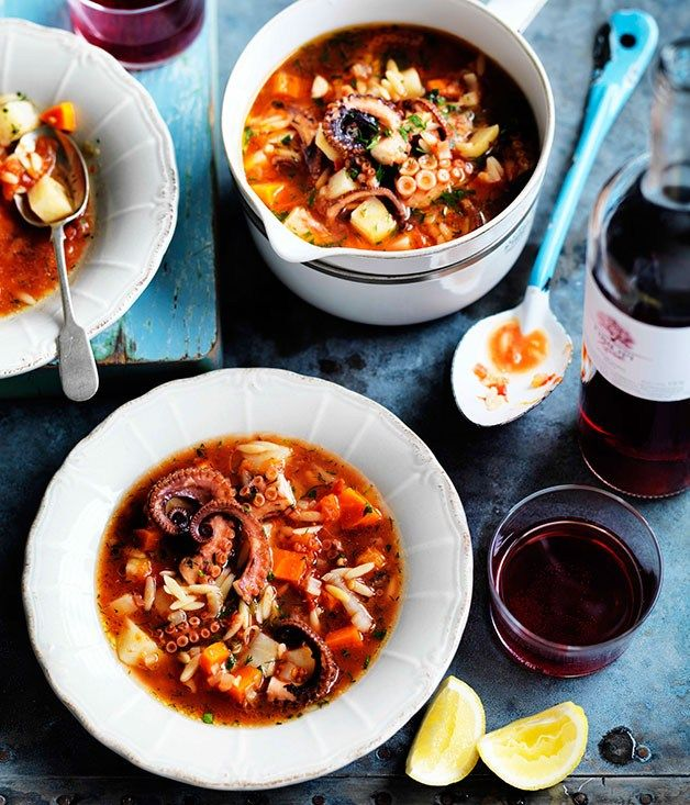 Octopus soup recipe | Soup recipe | Gourmet Traveller WINE recipe - Gourmet Traveller