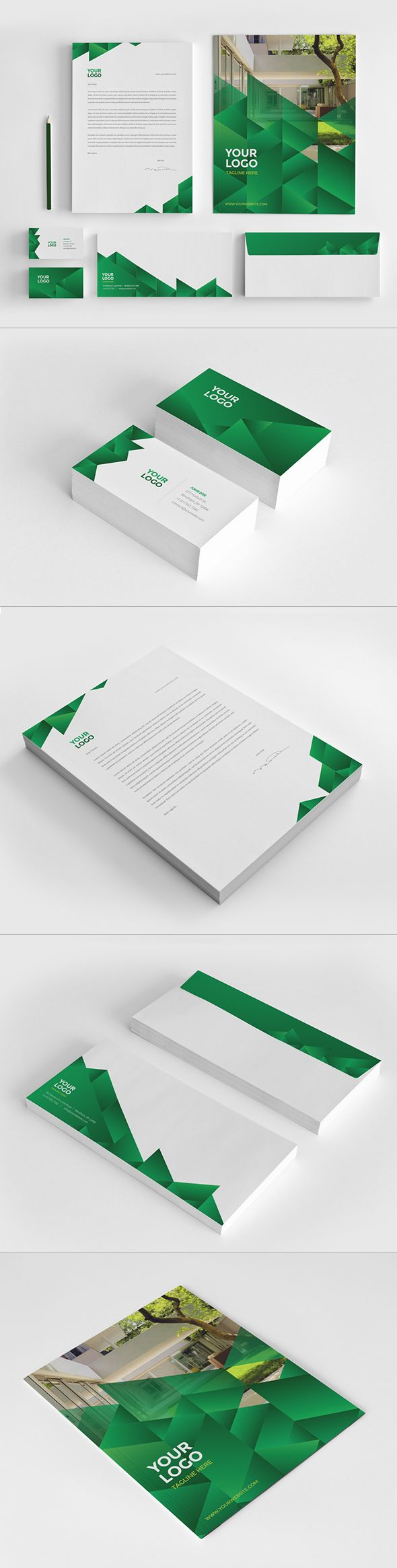 Ecologic Stationery Pack by Abra Design, via Behance