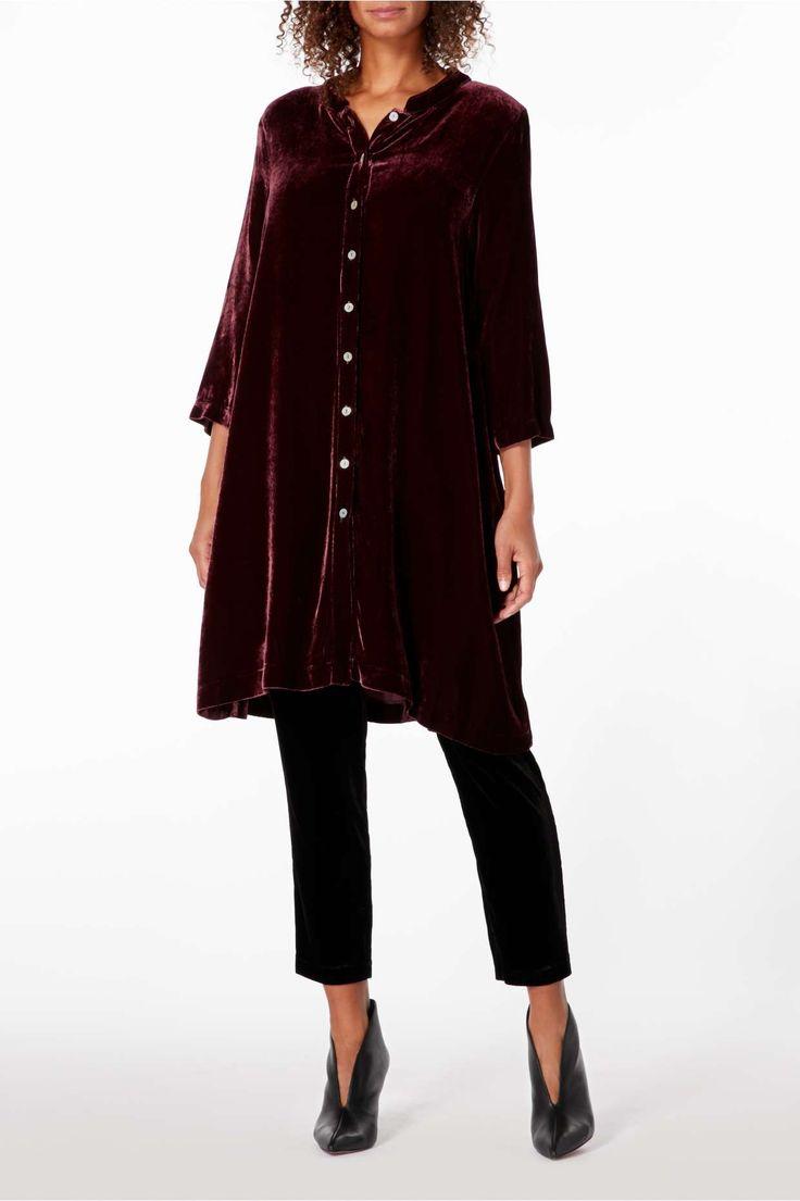 Sahara Velvet Long Nehru Shirt