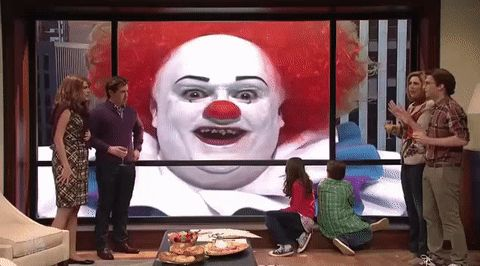 snl saturday night live scary clown trending #GIF on #Giphy via #IFTTT http://gph.is/2fbAF6S