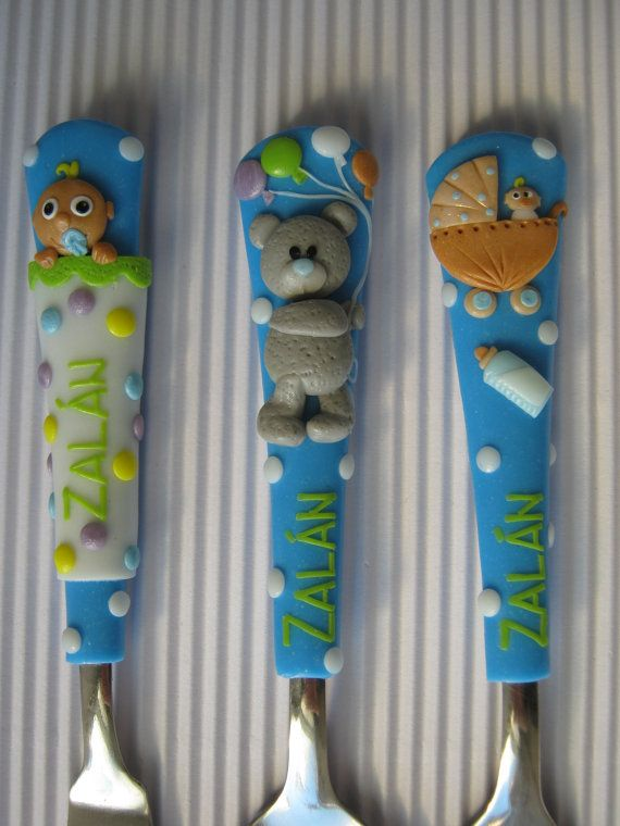 Handmade Personalized Cutlery for Children. by cutlerydesignJS