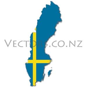 Flag Vector Map of Sweden