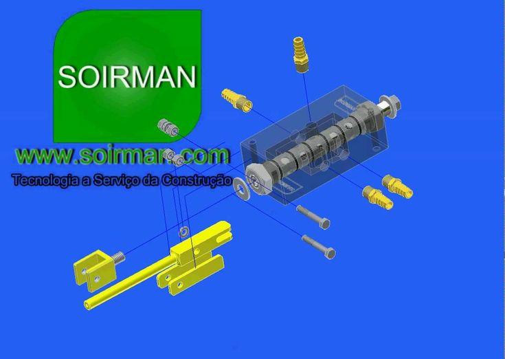 SOIRMAN Maquinas para fabricar blocos de concreto - explosao comando pne...