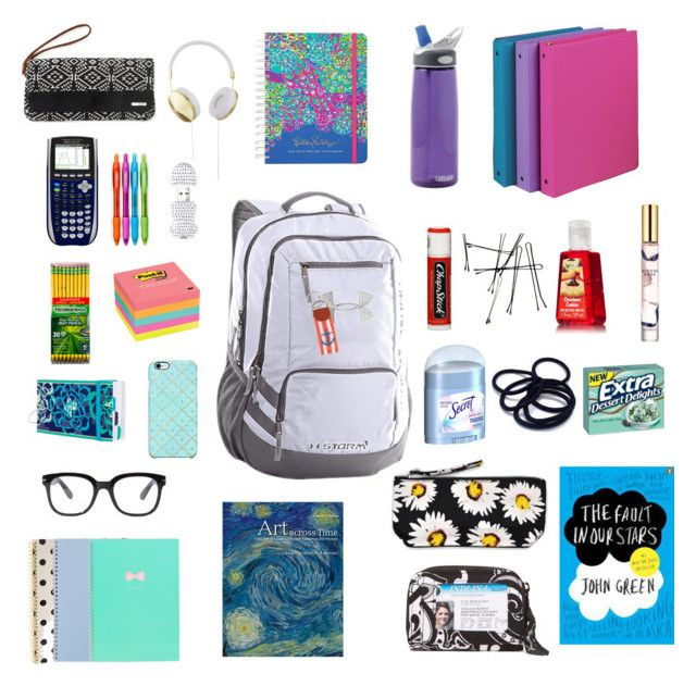 Backpack Essentials✌️ by jenin-hasan on Polyvore featuring polyvore, beauty, Estée Lauder, Uncommon, Frends, Forever 21, Under Armour, Vera Bradley, Aéropostale, Lilly Pulitzer, Motel, Post-It, Dixon Ticonderoga, Paper Mate, Kate Spade, CamelBak and Chapstick