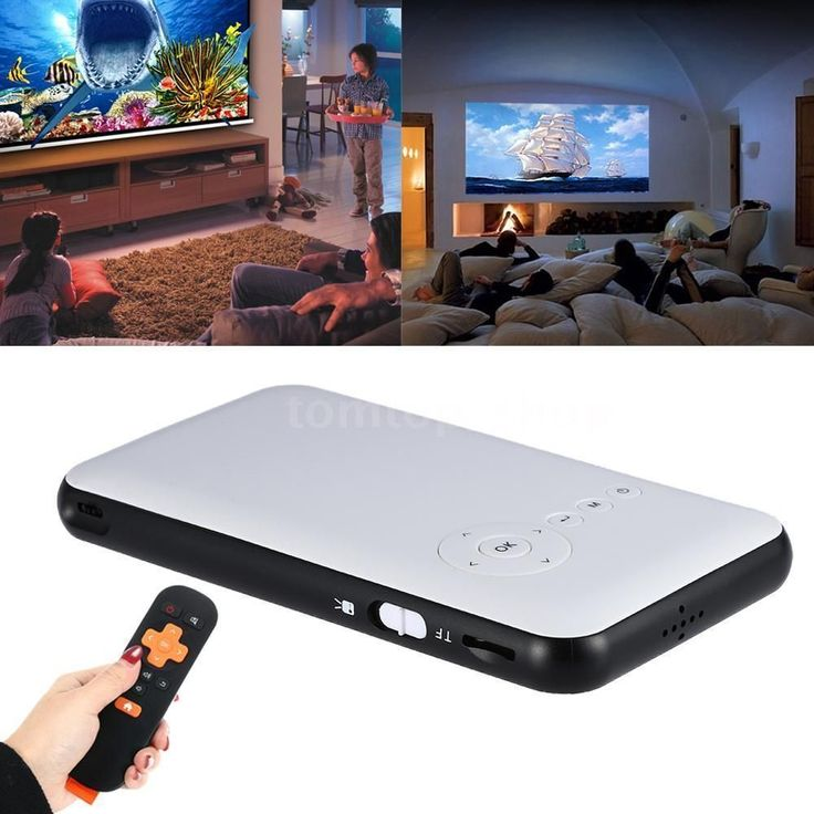 Android 4.4 LED DLP 2.4G/5G WIFI Projector Miracast BT Home Cinema HD 1080P T2E8 #homecinemaprojector