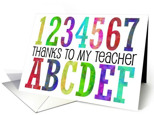 thanks to my teacher card