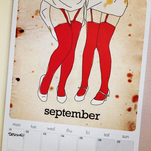 Stay organised with this cheeky calendar! www.missmegshop.etsy.com